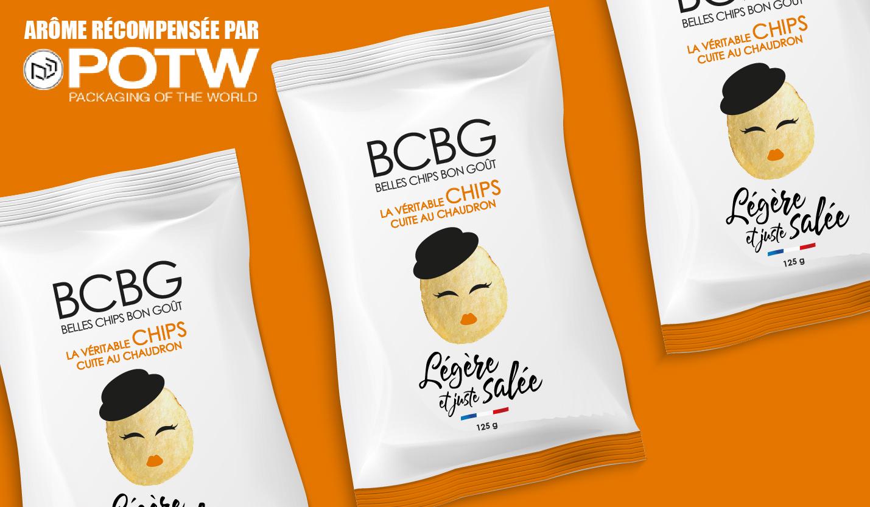 Chips BCBG récompensée par Packaging of the World