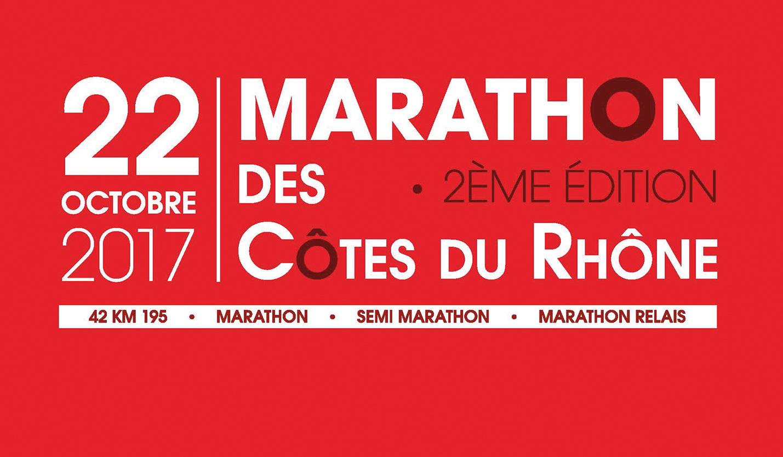 Arome réalise l'affiche du 2ème Marathon des Côtes du Rhône