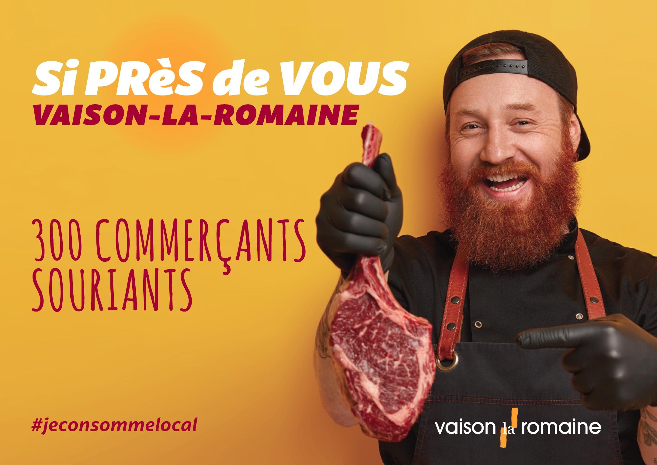 Campagne publicitaire affichage pour Vaison la Romaine