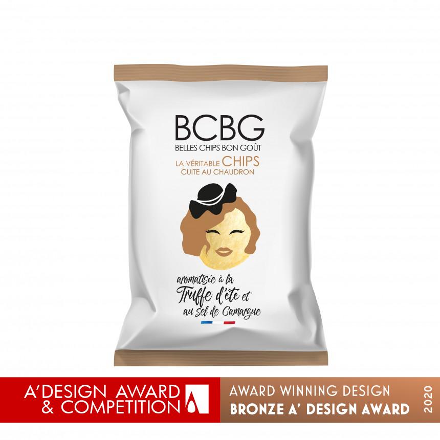 A Design Award de Bronze sur le packaging des chips BCBG