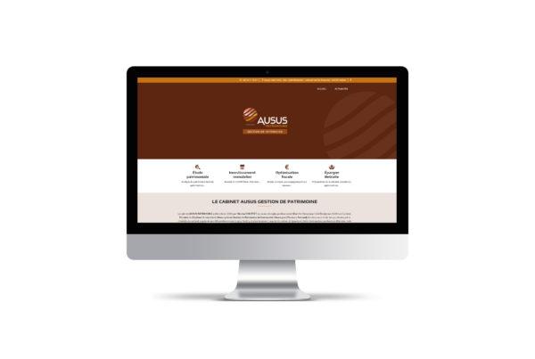 Site internet Ausus Patrimoine – Gestion de Patrimoine